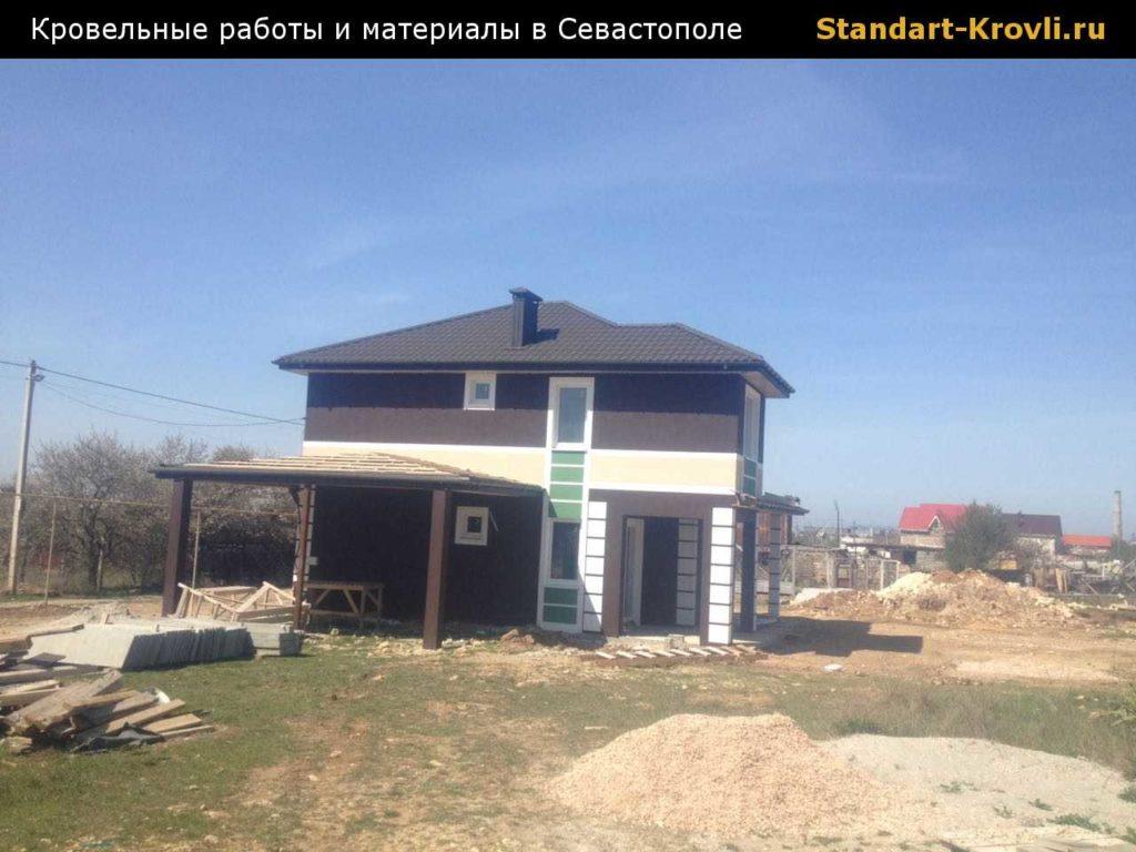 Закончили кровельные работы в Севастополе